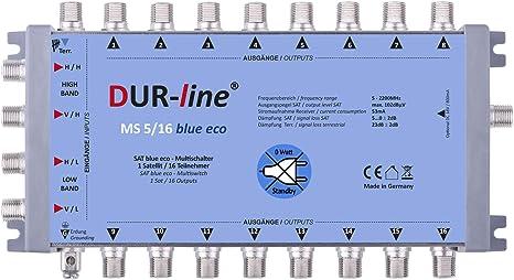DUR-line MS 5//16 G-HQ Sat Multischalter 16 Teilnehmerstromsparendes Netzteil