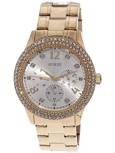 Guess Reloj Analógico para Mujer de Cuarzo con Correa en Acero Inoxidable W1097L3: Amazon.es: Relojes