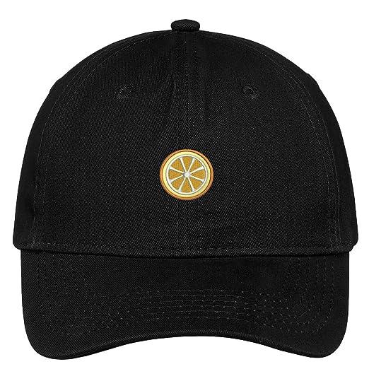 a9bfe9cfd37 Trendy Apparel Shop Orange Slice Embroidered Cap Premium Cotton Dad Hat -  Black
