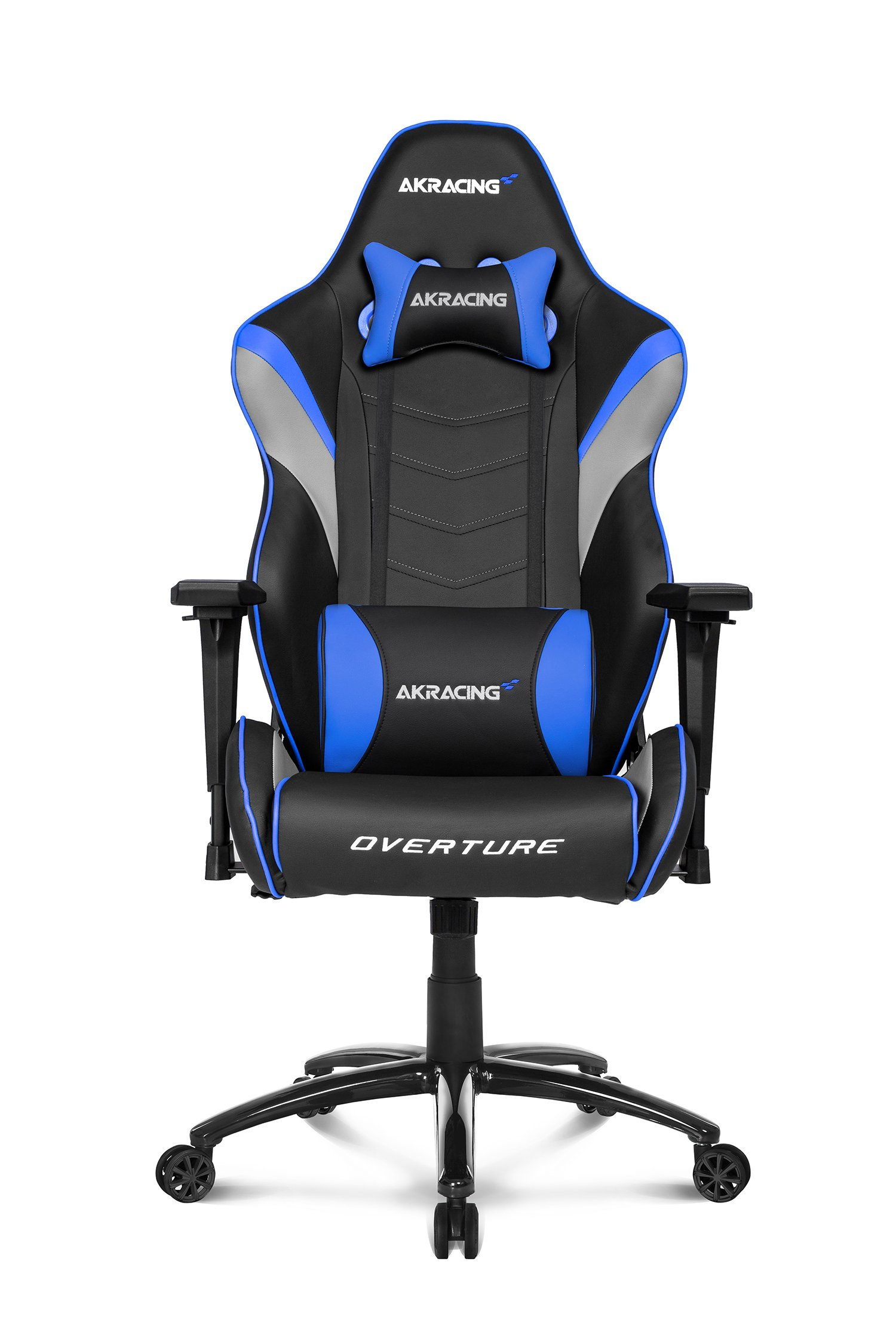 AKRacing Overture Series Super-Premium Gaming Chair with High Backrest, Recliner, Swivel, Tilt, Rocker and Seat Height Adjustment Mechanisms with 5/10 warranty Blue