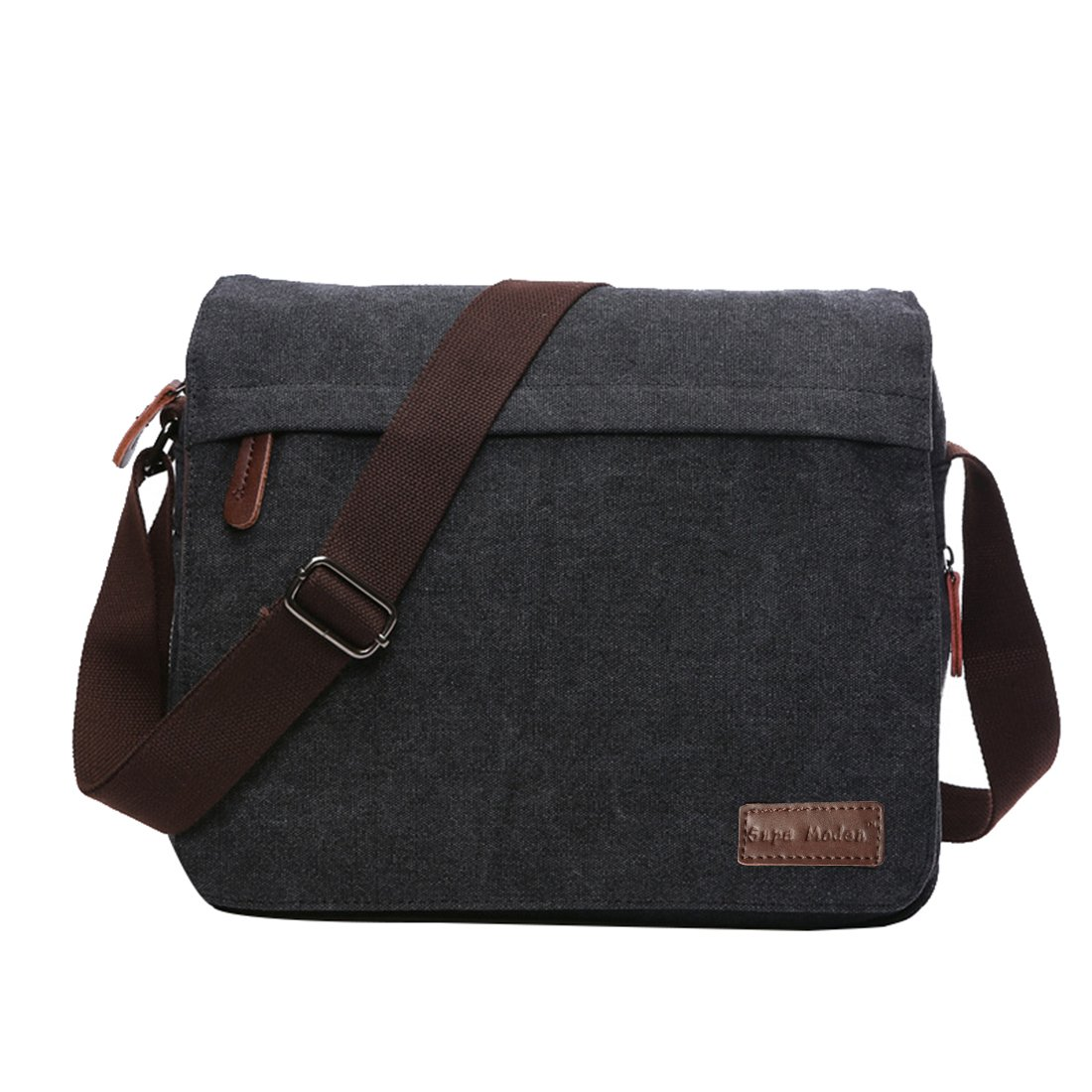 37310b21094e SUPA MODERN® Canvas Messenger Bag Shoulder Bag Laptop Bag Satchel Bag  Bookbag School Bag Working Bag Crossbody Bag for Men and Women(14 Inch  Laptop Bag)