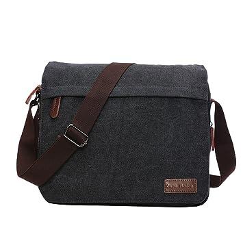 915a944ebe9 SUPA MODERN® Canvas Messenger Bag Shoulder Bag Laptop Bag Satchel Bag  Bookbag School Bag Working