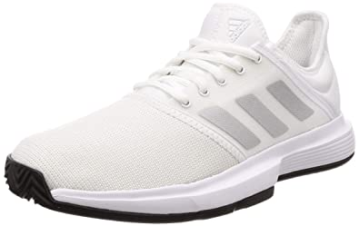 2e25e0e8341 Adidas Men's Gamecourt M Ftwwht/Msilve/Cblack Tennis Shoes-11 UK (46 ...
