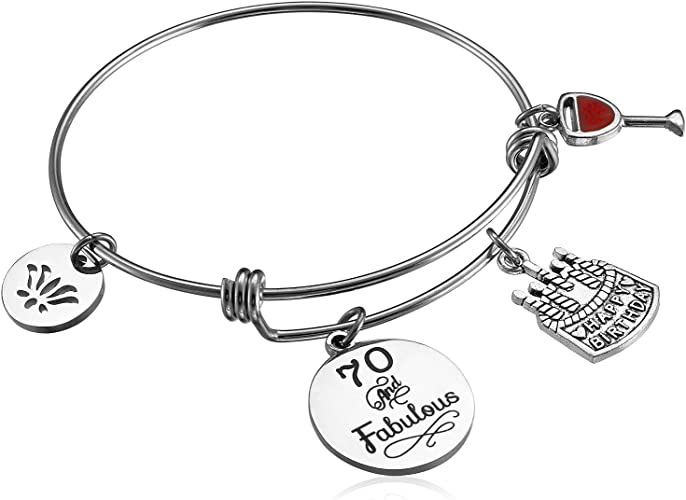 Life Charms You Are 30 Happy Birthday Silver Bracelet with Free Gift Box