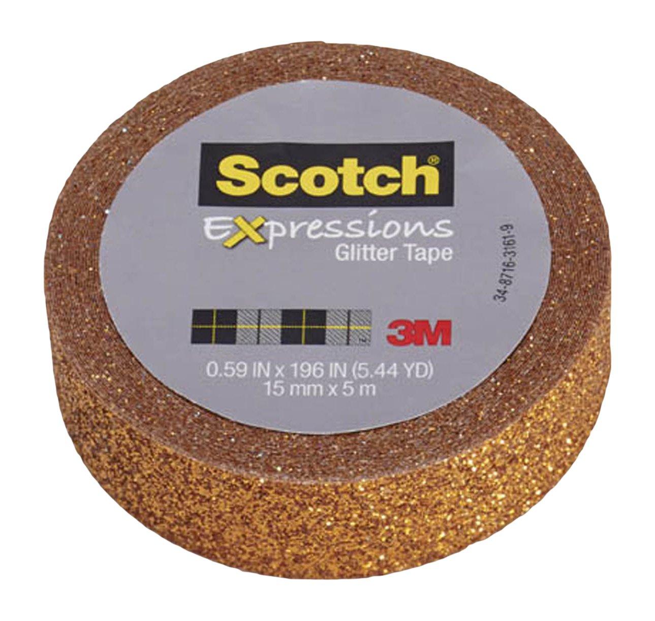 Scotch Expressions Glitter Tape, 0.59 '' x 196 '', Bright Orange, 6 Rolls (C514-ORG)