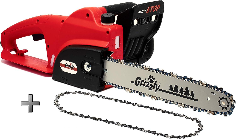 Motosierra eléctrica Grizzly EC 1800 W, espada 42 cm, longitud de corte: 35,5 cm, Motor de 1800 W incl. cadena de repuesto