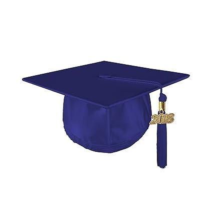 lescapsgown Unisex Adult Graduation Cap with Tassel 2017-Shiny Cap