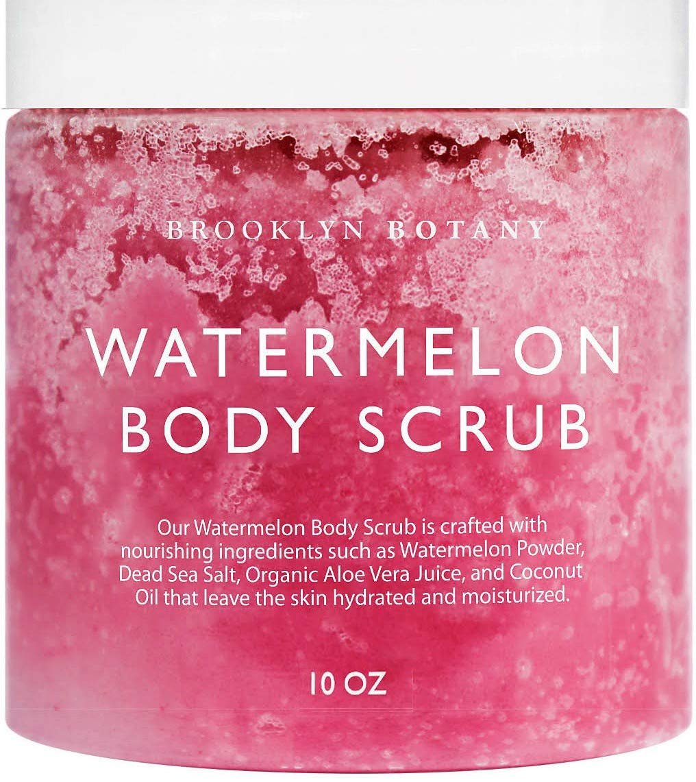 Brooklyn Botany Watermelon All Natural SUPER Skin Hydrating Body Scrub - Dual Action Hydrates and Exfoliates - Body, Face, and Foot Scrub - Moisturizes, Hydrates, and Cleanses - Skin Hydration - 10 oz by Brooklyn Botany