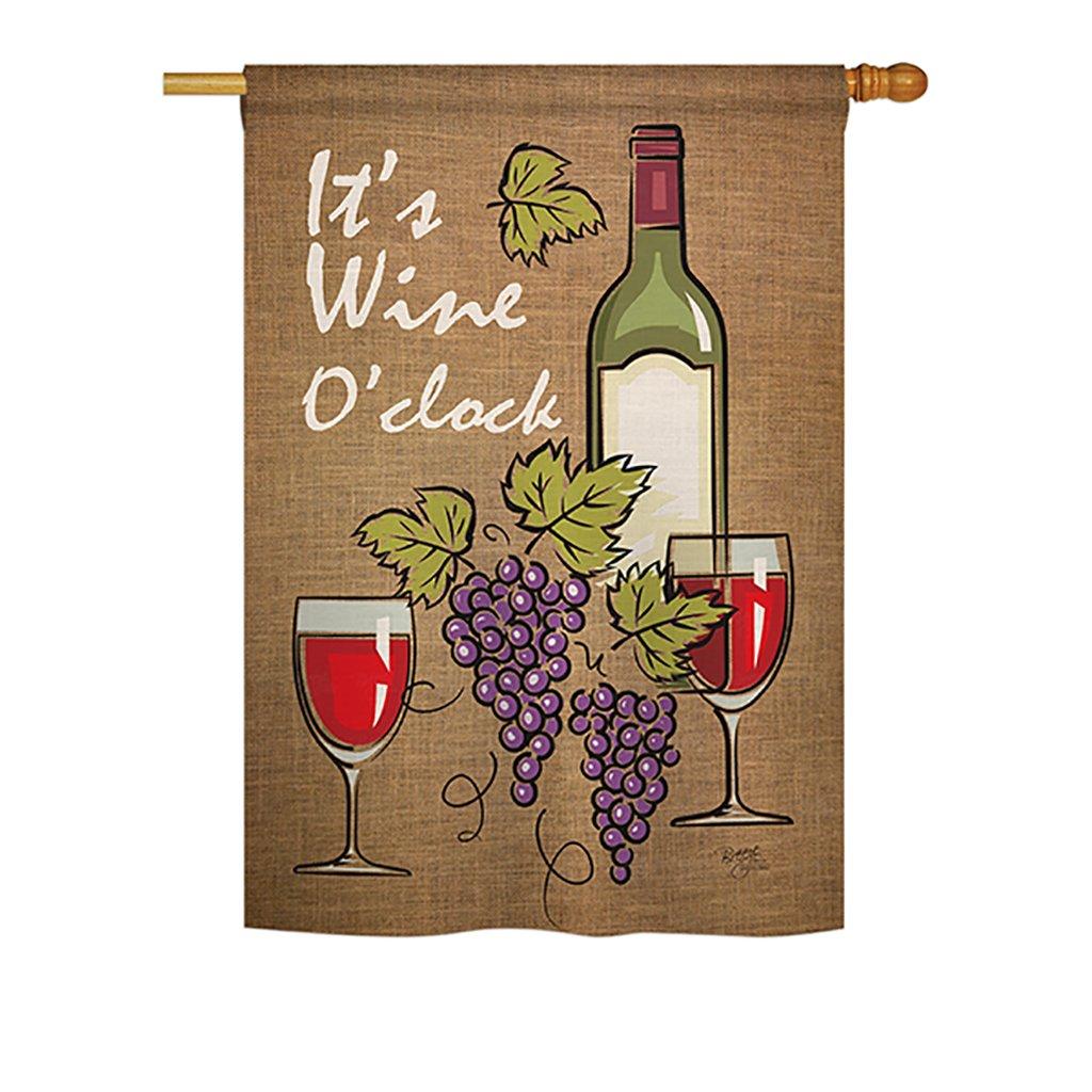 Amazon.com : Breeze Decor H117033 It\'s Wine Happy Hour and Drinks ...