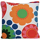 Bright Floral Green Fuschia Pink Cushion Cover 45cms X