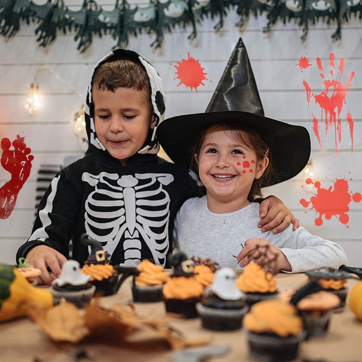 Calcoman/ías de Ventana de Terror de Halloween M/ás Asustadizo Etiqueta Decoraci/ón Horror Ba/ño Adhesivos Engomadas para Decoraciones de Fiesta de Halloween FORMIZON 10 Piezas Huellas Sangrientas