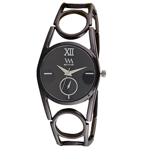 cf87e2060a9 Buy Watch Me Analogue Quartz Black Oval Dial Watch For Girls And Womens  Wmal-318 Online at Low Prices in India - Amazon.in