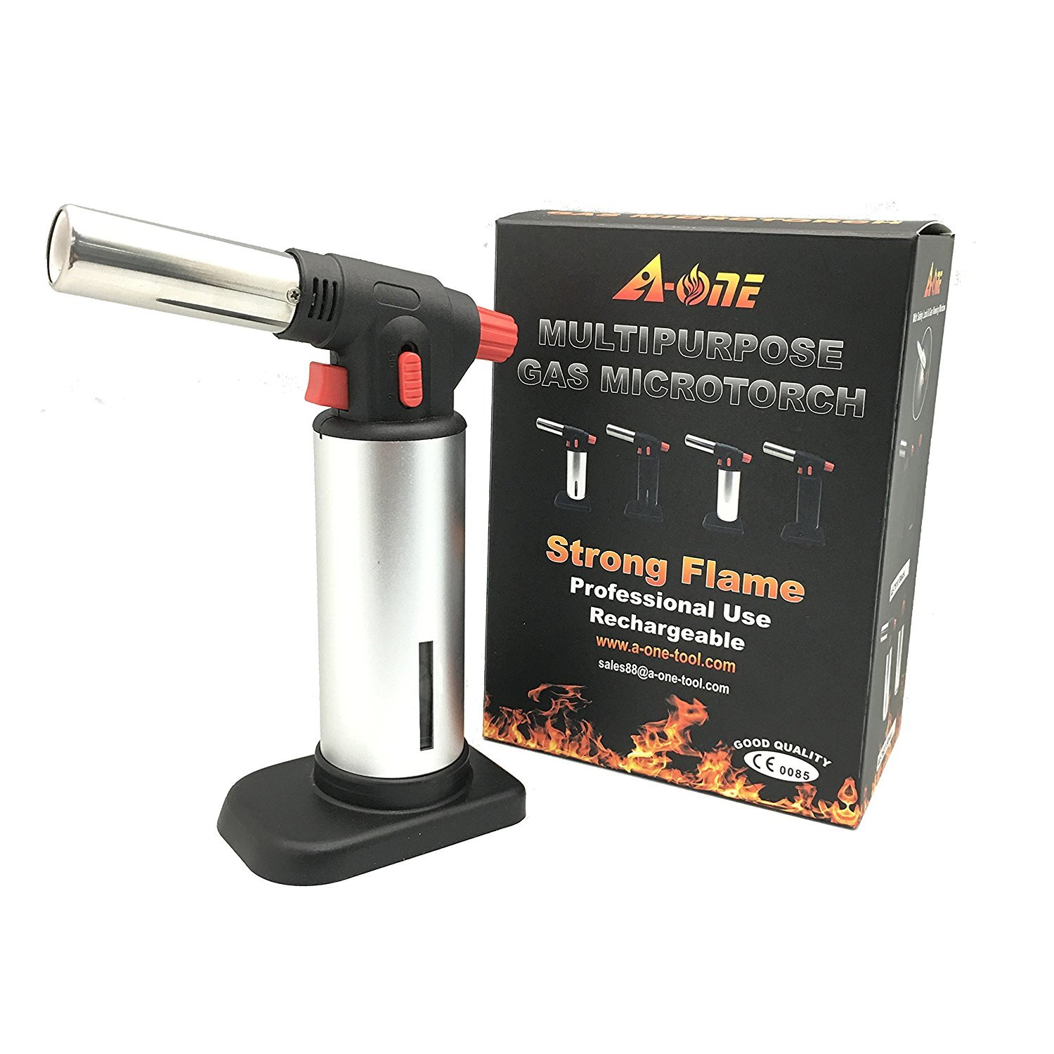 Culinary Torch, AONE Creme Brulee Torch - Kitchen Torch - Best Creme Brulee Torch - Food Torch - Cooking Torch - Cooking Blow Torch - Brulee Torch - Butane Torch For Cooking - Blow Torch SYNCHKG096028