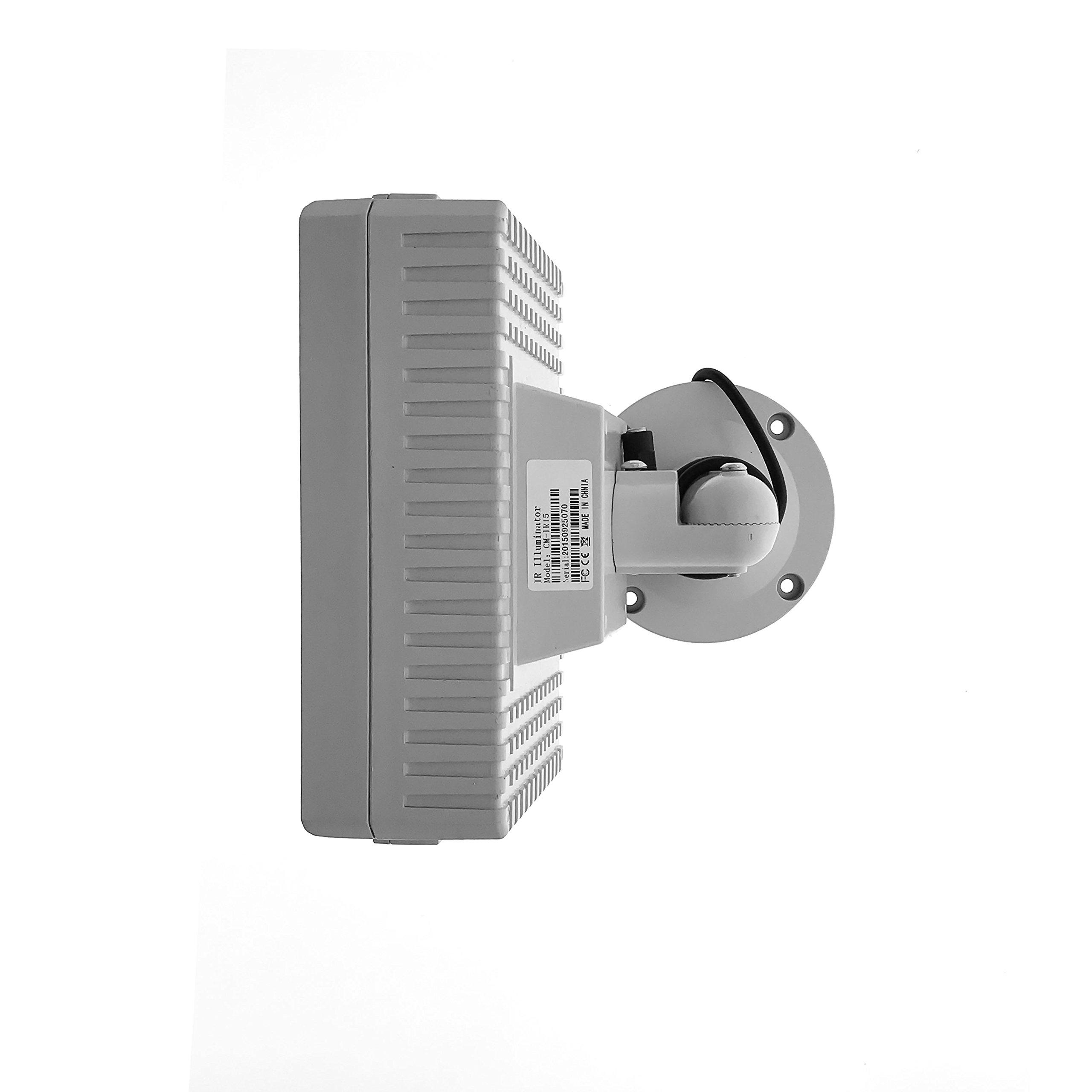 CMVision CMVE-IR15 Wide Angle 60-80° Power LED IR Array Illuminator 200-300' Long Range with Free 12VDC 3A Power Adaptor, 15 Piece by CMVision (Image #2)