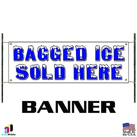 Amazon.com: Bolsa de hielo se venden aquí vinilo banner ...