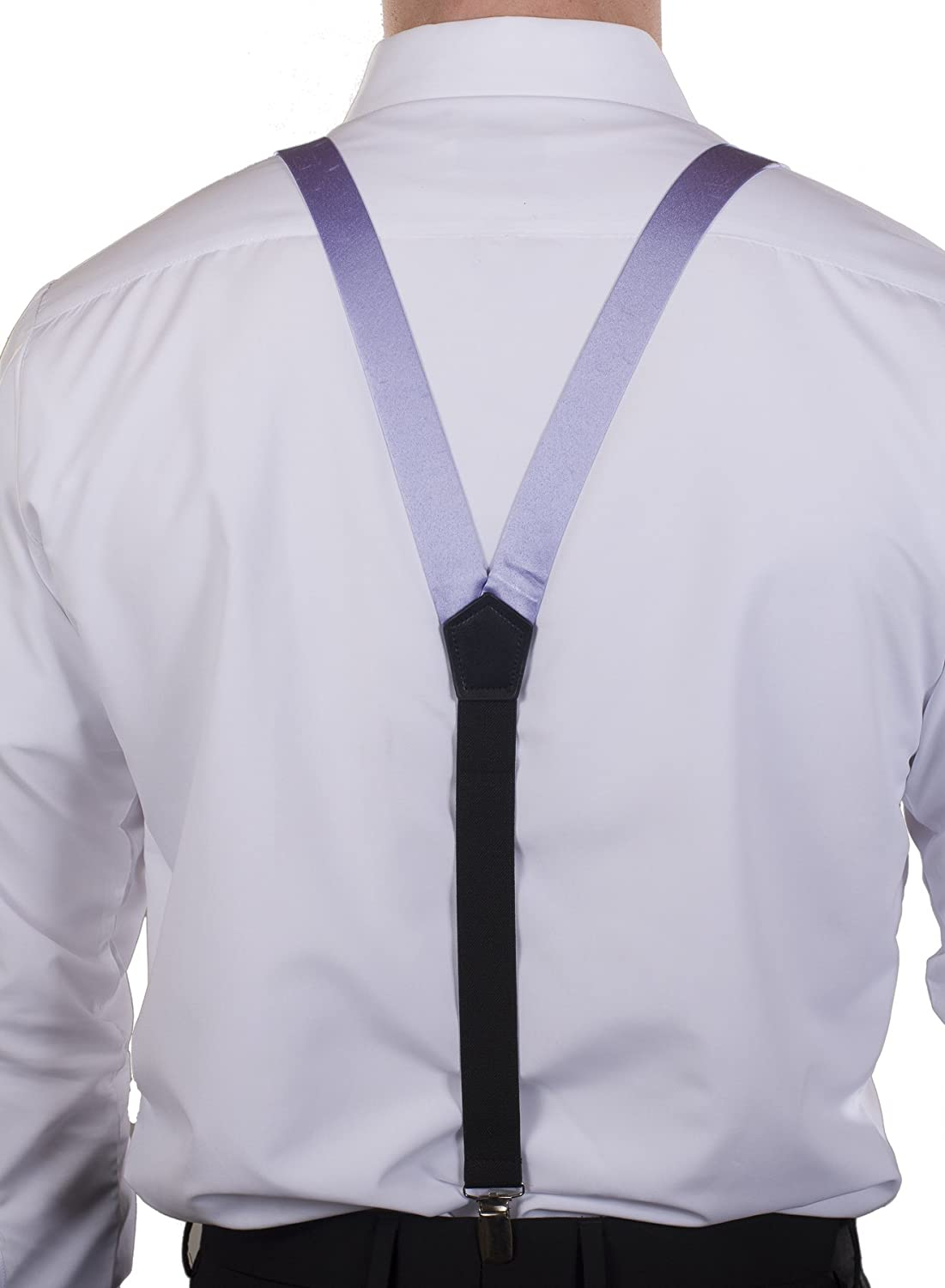 Tuxgear Mens Satin Suspender and Bow Tie Set Combo in Men/'s and Kids Sizes