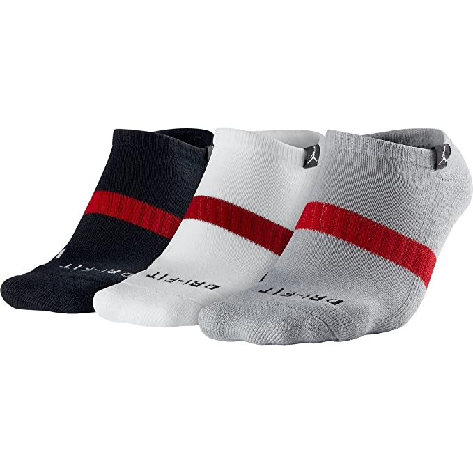 Amazon.com: Nike Jordan Mens Low Cut Dri-fit Socks Medium ...