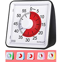 60 Minute Visual Analog Timer-Silent Timer Time Management Tool for Classroom or Meeting Countdown Clock for Kids and…