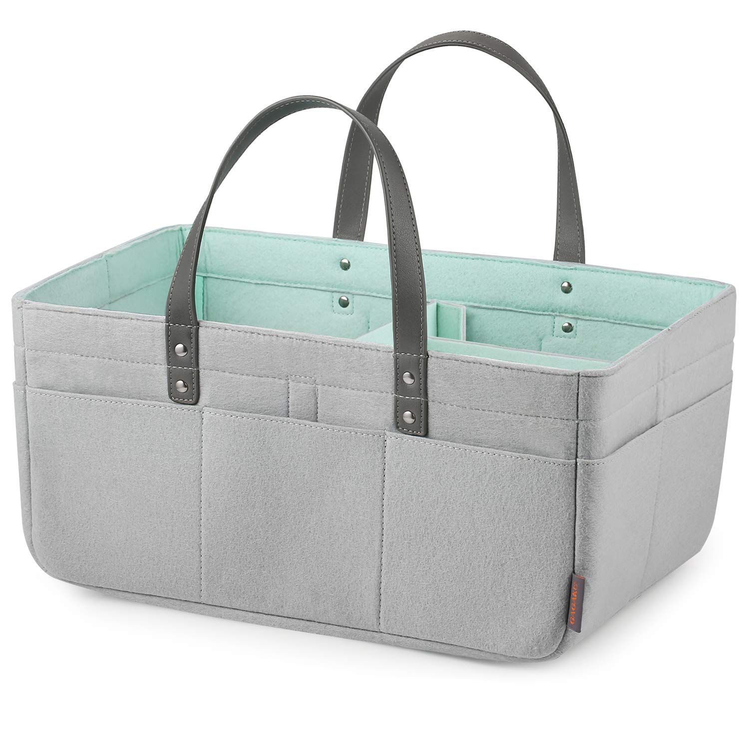 444fab2a9d6d GAGAKU Extra Large Baby Diaper Caddy Organizer Portable Nappy Storage  Basket for Home Car or...