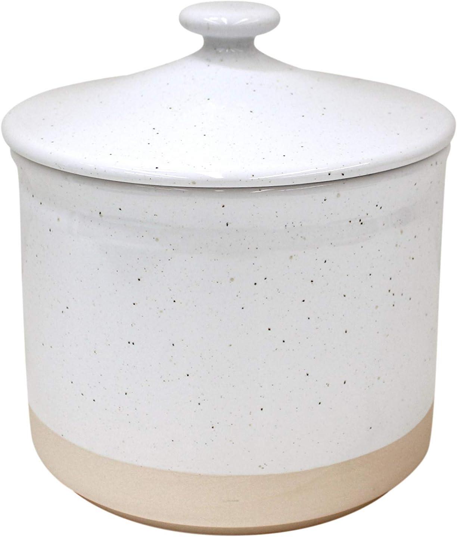 Casafina Fattoria Collection Stoneware Ceramic Large Canister 94 oz, White