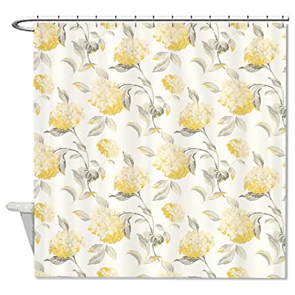 Neafts Polyester Waterproof Laura Ashley Yellow Flower Shower Curtain Bathroom Decor Home Decorations With Hooks Set