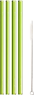 """product image for Simply Straws Straight 2 Classic & 2 Wide 8""""+ Brush (Green)"""
