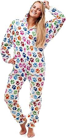 Kajamaz Pijama Entero sin pies para Adultos, Huellas Caninas Go-Jamz: Pijama Entero sin pies para Adultos