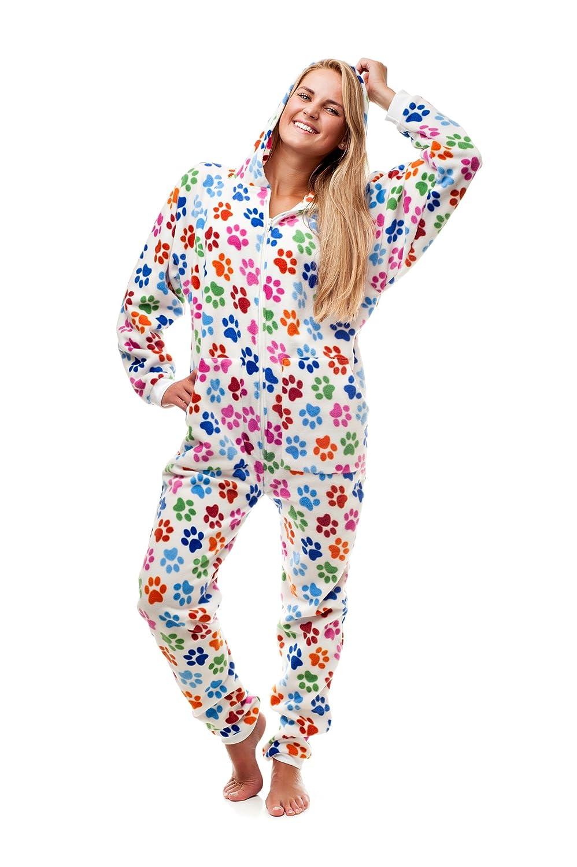 Amazon.com: Dog Pawz Go-Jamz: Adult Onesie Jumpsuit One Piece Pajamas by Kajamaz: Clothing