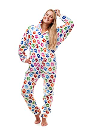 Kajamaz Dog Pawz Go-Jamz: Adult Onesie Jumpsuit One Piece Pajamas (Small)