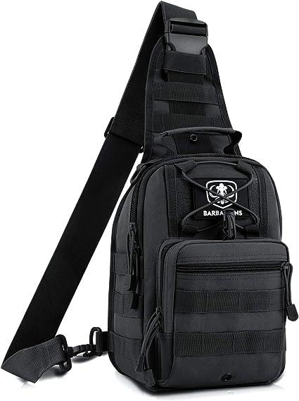 Molle Tactical Sling Bag Chest Bag Messenger Shoulder Bag Backpack Pouches