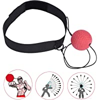 Ueasy Fight Ball Reflex Boxing Reflex Ball Arm Strength Balance Practice Headband Boxing Great Christmas Gift for Who Want to Improve Reactions and Speed
