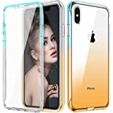 Vofolen Case for iPhone XS Max Case Clear Cover with Screen Protector Full-Body Protection Drop Impact Resistant Rubber…