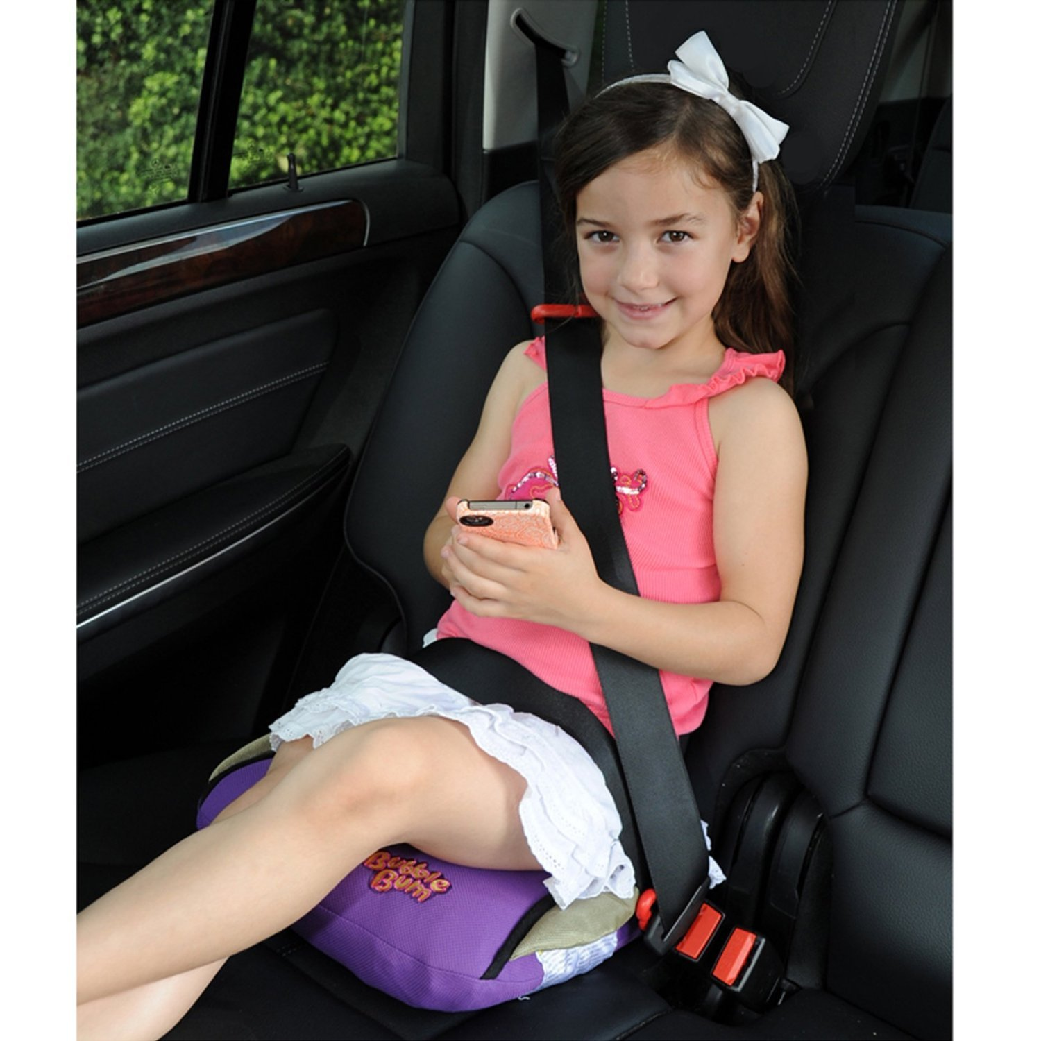 amazoncom inflatable and portable car booster seat color purple baby