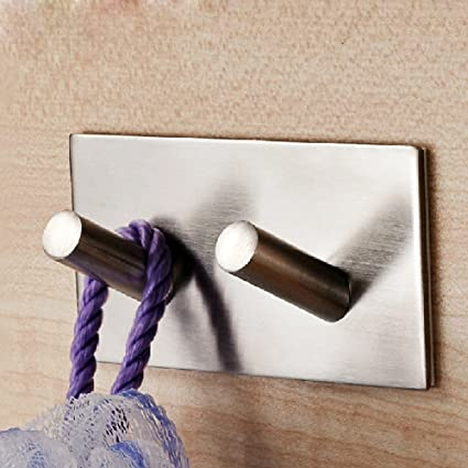 Bathroom Hardware Sincere Leyden 3m Self Adhesive Stainless Steel Polished Chrome Brushed Nickel Wall Rack Hanging Towel Rod Towel Ring Shelf With Hooks Elegant In Style Back To Search Resultshome Improvement