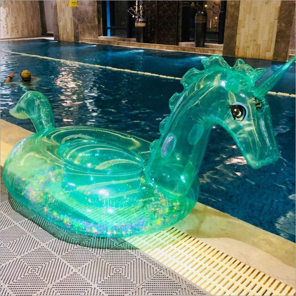 KJRJFP Ocio Gigante Inflable Transparente Unicornio Piscina Flotador Piscina al Aire Libre Grande Floaties Lounge Juguetes for Adultos: Amazon.es: Hogar