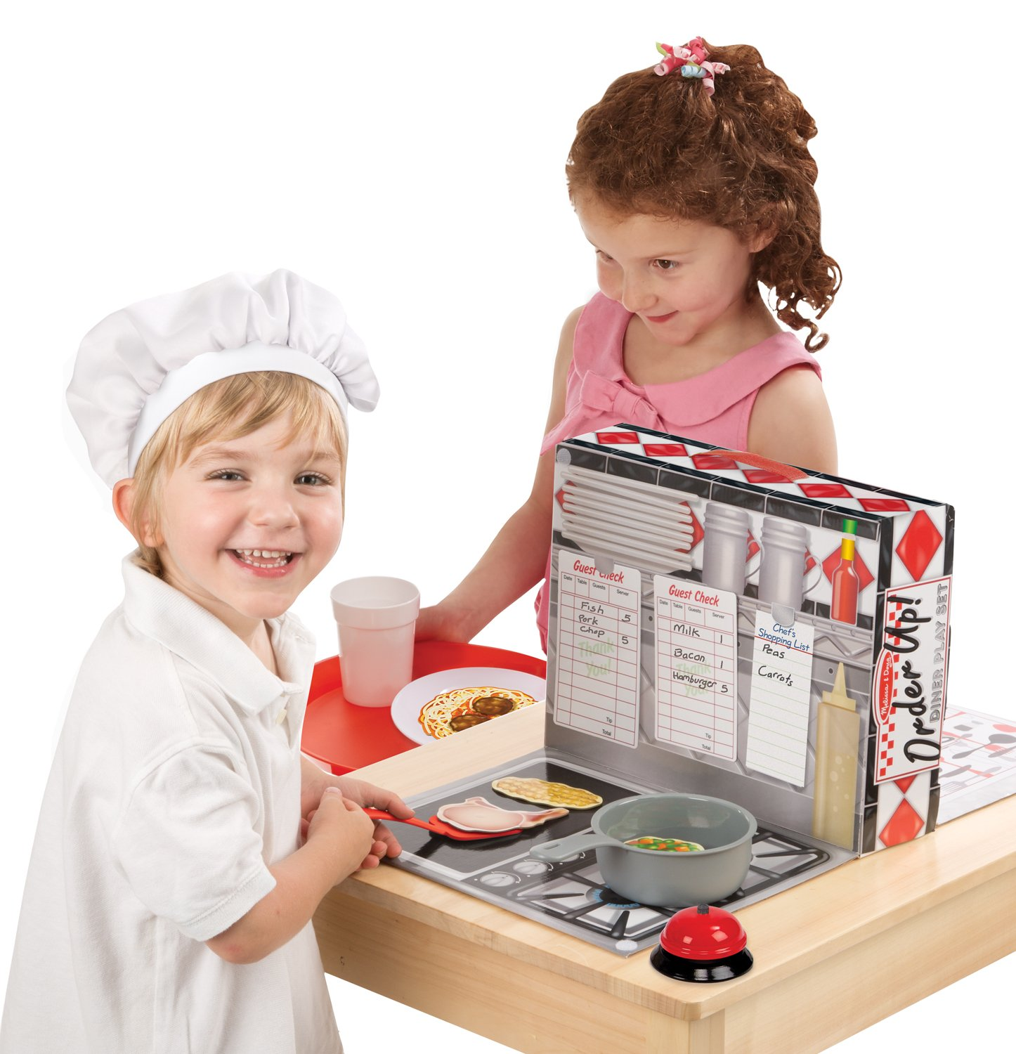 Melissa & Doug Order Up! Diner Play Set with Play Food (53 pcs) - Be Cook, Server, or Customer 18515.0
