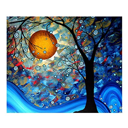 6515903657 Amazon.com: Blxecky 5D DIY Diamond Painting By Number Kits,Abstract  tree(16X16inch/40X40CM)