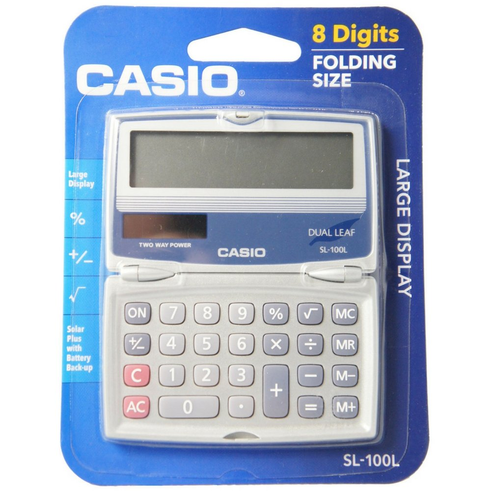 Casio Basic Solar Folding Compact Calculator 1 ea Casio Computer Co. Ltd SL-100L