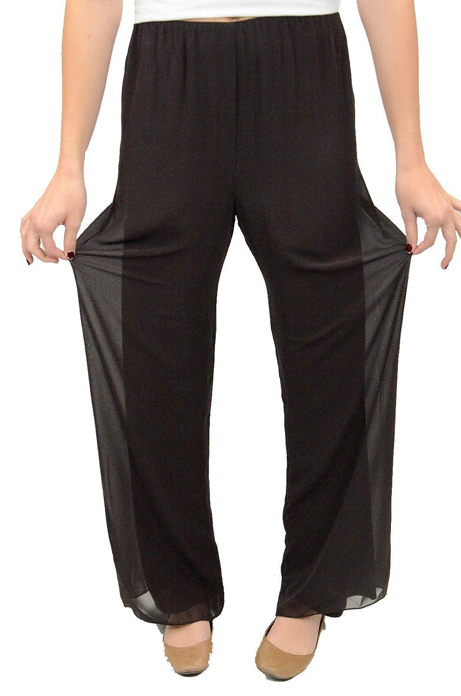 4cd2501df3 Alex Evenings Women's Chiffon Dress Pants in Chocolate, Small at Amazon  Women's Clothing store: