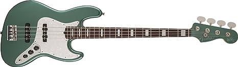 Fender 0190090846 Adam Clayton Jazz Bass Diapasón de Palisandro para guitarra eléctrica - Sherwood verde metálico: Amazon.es: Instrumentos musicales