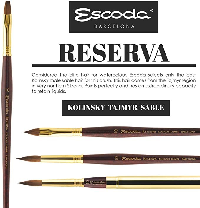 ESCODA RESERVA SH KOLINSKY TAJMYR SABLE WATERCOLOR ROUND 2