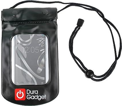 DURAGADGET Funda Impermeable Negra para Smartphone BQ Aquaris U Lite/U Plus/ U / X5 Plus: Amazon.es: Electrónica