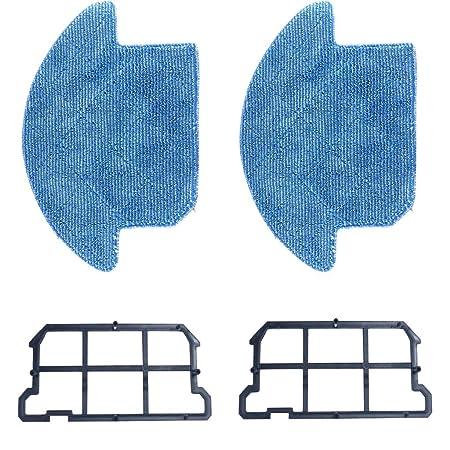 Juego de 2 paños de Limpieza Lavables para aspiradora Ilife V7S ...