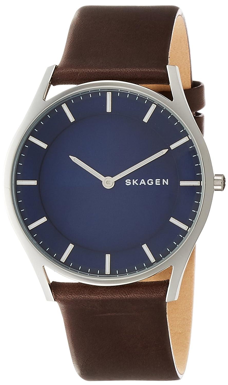 Skagen Reloj Hombre de Analogico con Correa en Cuero SKW6237