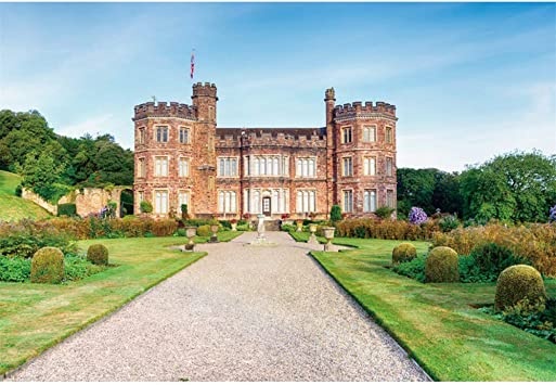 CSFOTO 14x10ft A Stately Home Backdrop Red Birck House Autumn Landscape Garden Travel Vacation Photo Background for Photography YouTube Blogger Live Wallpaper