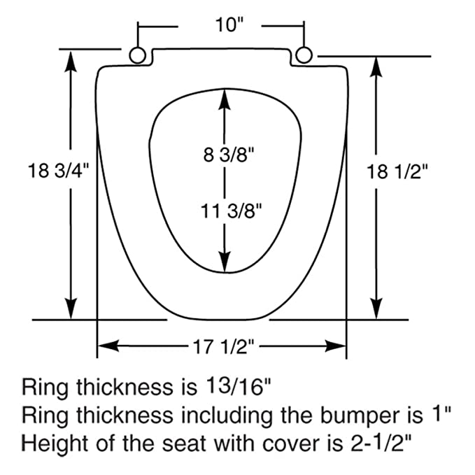 Marvelous Bemis Lc212 For Elongated American Standard Toilet Seat Machost Co Dining Chair Design Ideas Machostcouk