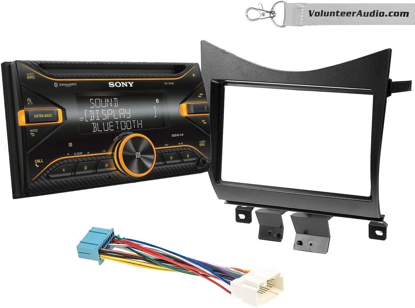 Sony WX-920BT Double Din Radio Install Kit With Sirius XM Ready, USB/AUX, CD Player Fits 2003-2007 Accord