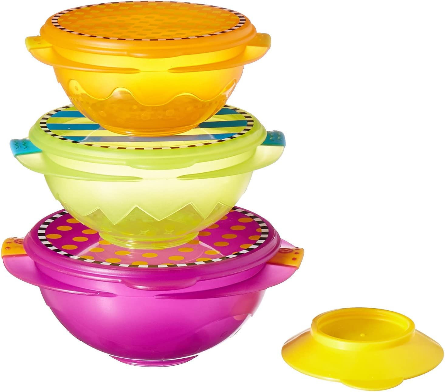 Sassy On-the-Go Snack Bowl Set Multicolor