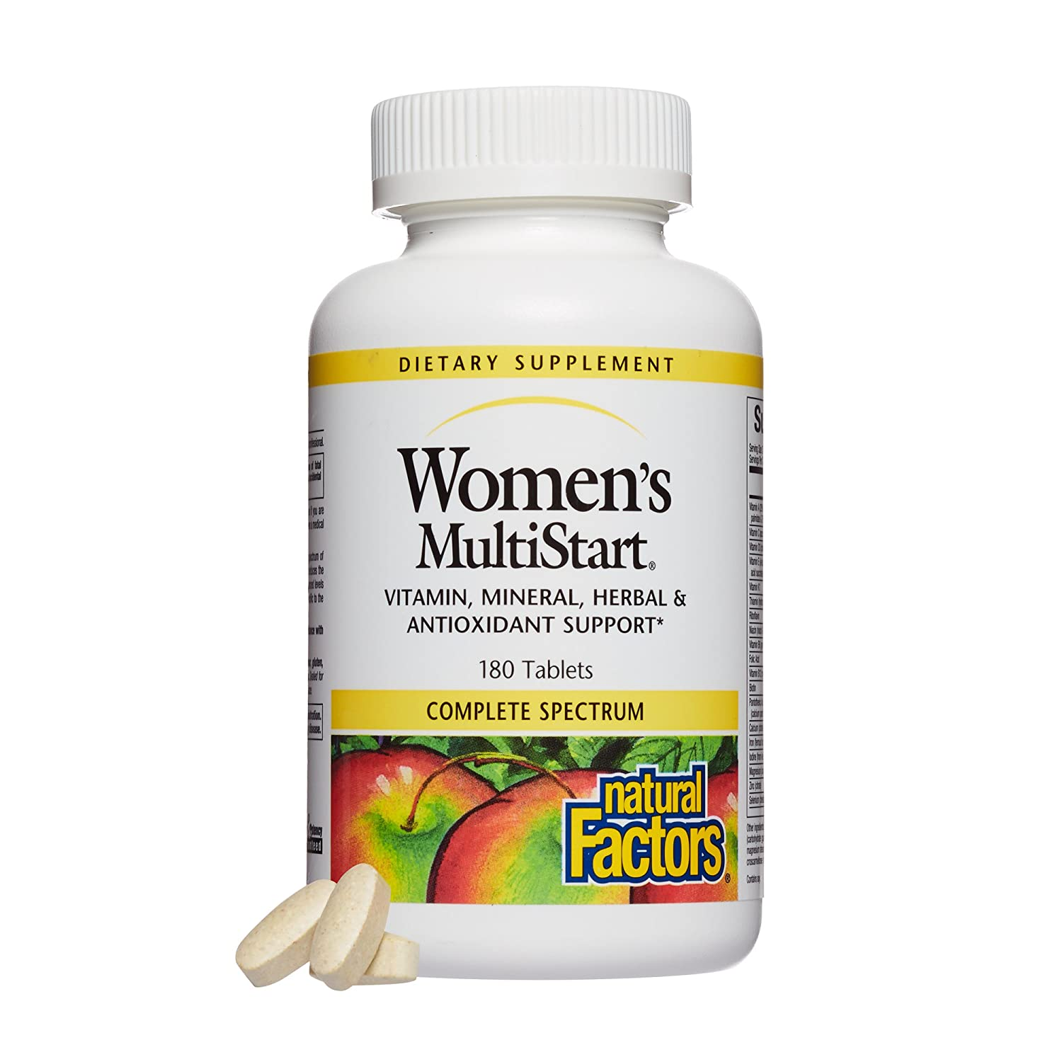 Natural Factors, Women s MultiStart Daily Multivitamin, Nutritional Support for Immune Health and Energy, 180 Tablets 60 Servings