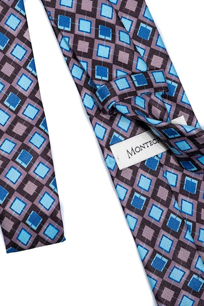 Montecristo Cravatta In Seta Dal Design Elegante Motivo Rombi 100/% Seta